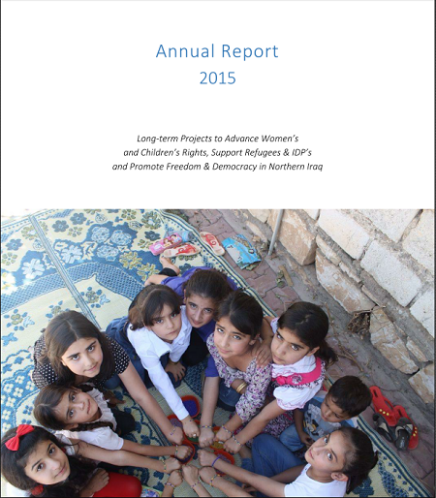 Annual Report about Wadi's Activities in 2015