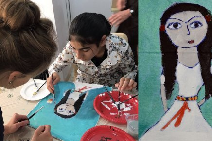 These Yazidi women escaped ISIS slavery — and are painting self-portraits to reclaim their dignity