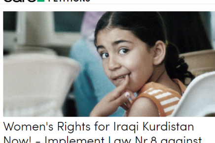 Petition: Women's Rights in Iraqi Kurdistan Now!