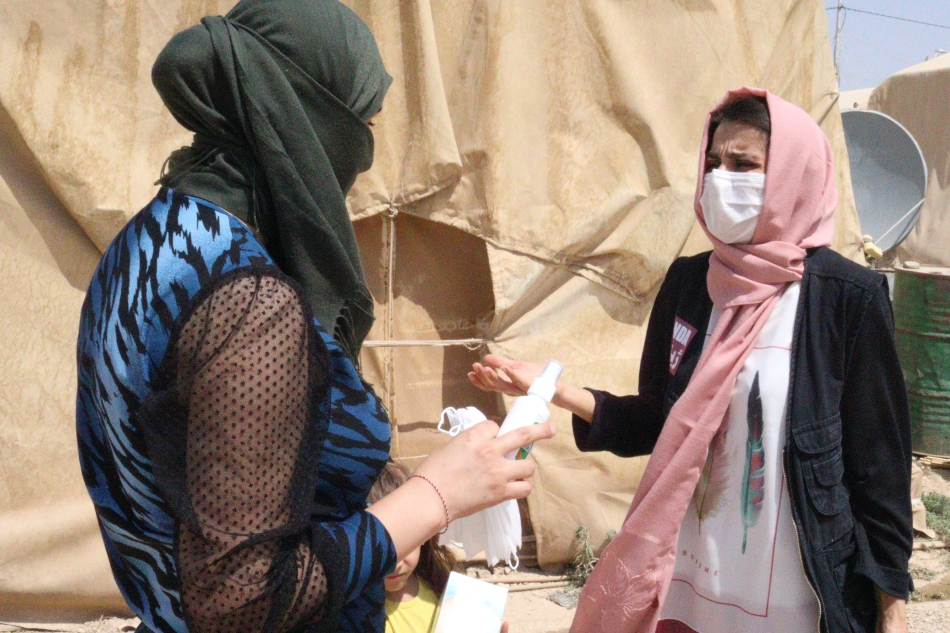 Raising Covid Awareness in Refugee CampsContinues